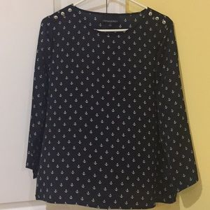 Anchor blouse.  Nautical shirt size large fits med